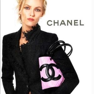 Pink Chanel Cambon Small Bucket Tote Bag
